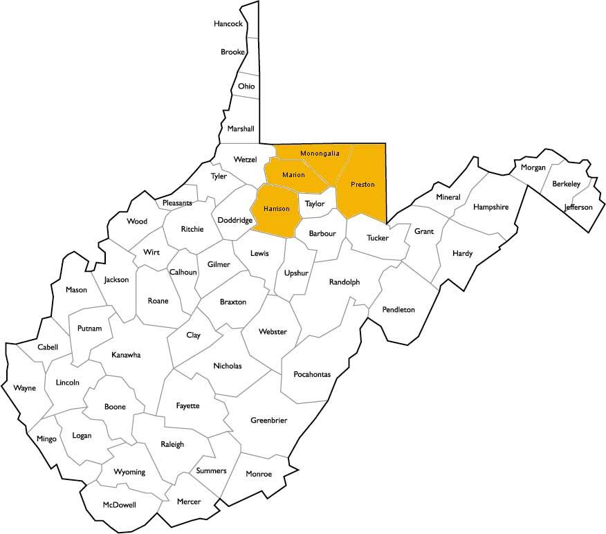 West Virginia Locations